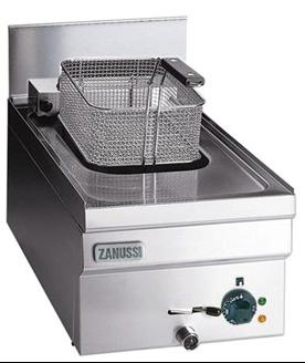 Bild på Fritös gas, 7 Liter, 350 mm Bred, V-formad bassäng